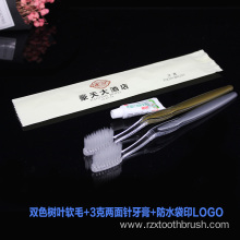 hotel amenity set disposable toothbrush Custom Hotel name